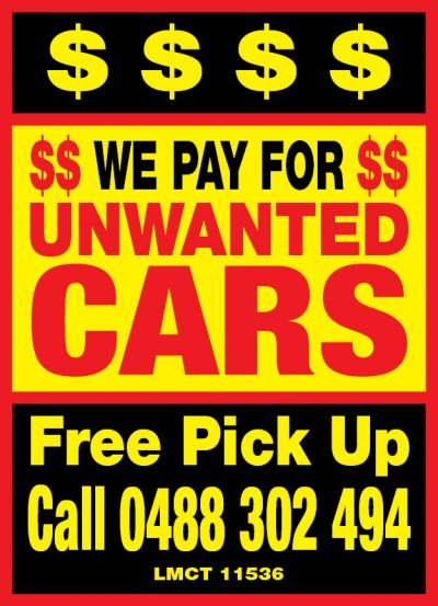 We Pay Cash For Unwanted Cars